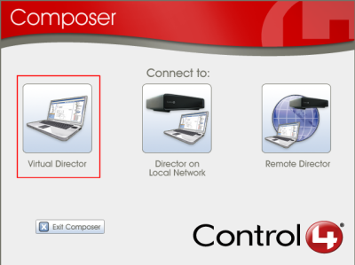 Composer software pro Control4