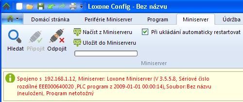 Loxone Miniserver centrála domovní automatizace prakticky