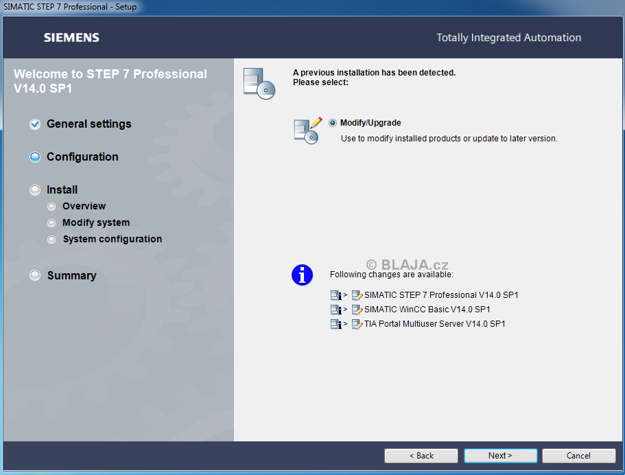 TIA Portal V14 SP1 download a instalace do Windows 7