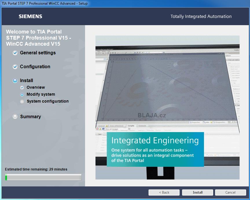 Instalace TIA Portal V15 STEP 7 and WinCC V15